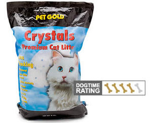 Crystal or pearl cat litter