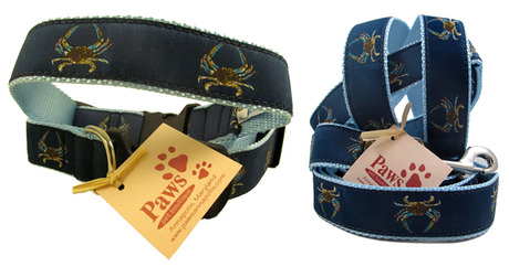 Product Review: Blue Crab leash and collar by Paws Pet Boutique