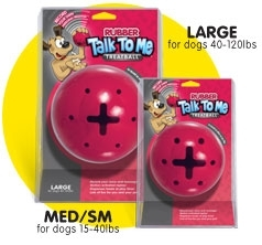 Talk To Me Rubber Treat Ball