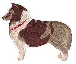 sheltie embroidery