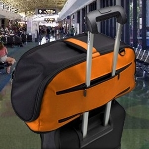 Sleepypod Air on suitcase