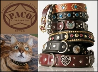 Handcrafted Leather Pet Collars by Paco Collars
