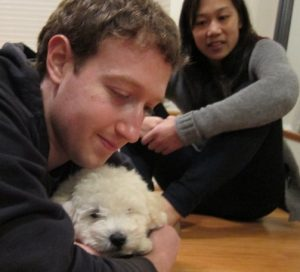 Facebook founder Mark Zuckerberg gets puppy