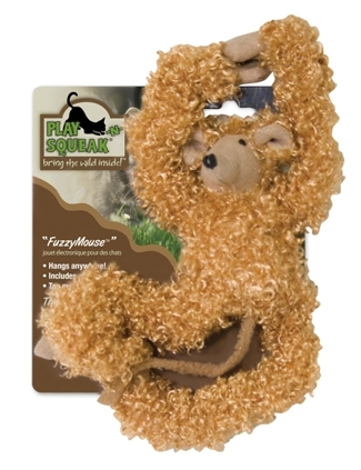 Play-N-Squeak Long Fuzzy Mouse Cat Toy $4.47