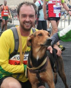 Rescue dog runs marathon with owner