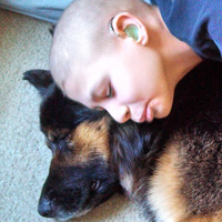 Rescued dog now cares for boy with cancer