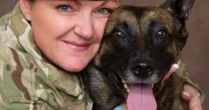 Army medic adopts bomb dog who saved her life