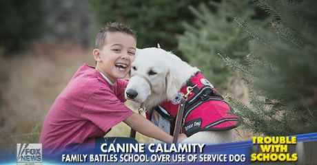 First grader misses school because officials won't let him take his service dog