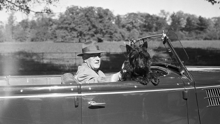President Roosevelt with His Dog Fala