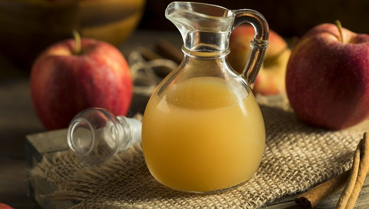 Raw Organic Apple Cider Vinegar in a Bottle