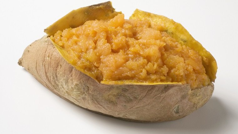A baked sweet potato