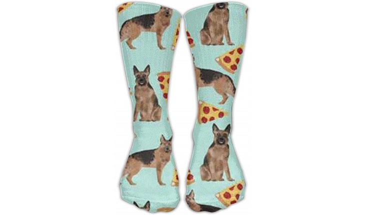 german shepherd pizza socks