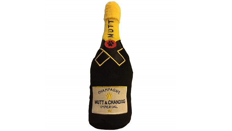 champagne bottle plush toy