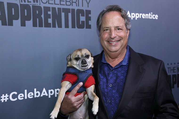 Jon Lovitz Poses With His Dog, Jerry Bruckheimer III