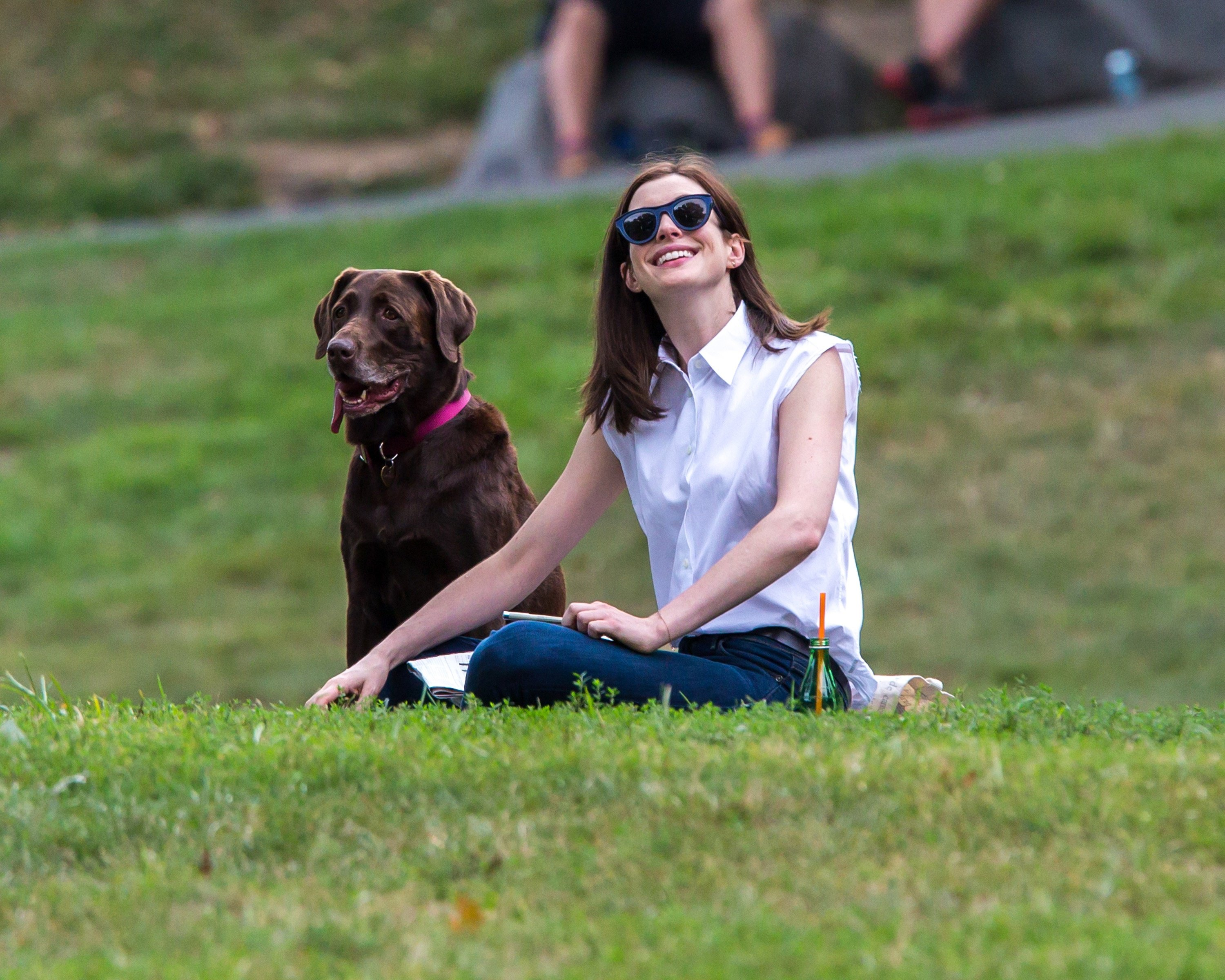 Anne Hathaway And Her Pup, Esmeralda