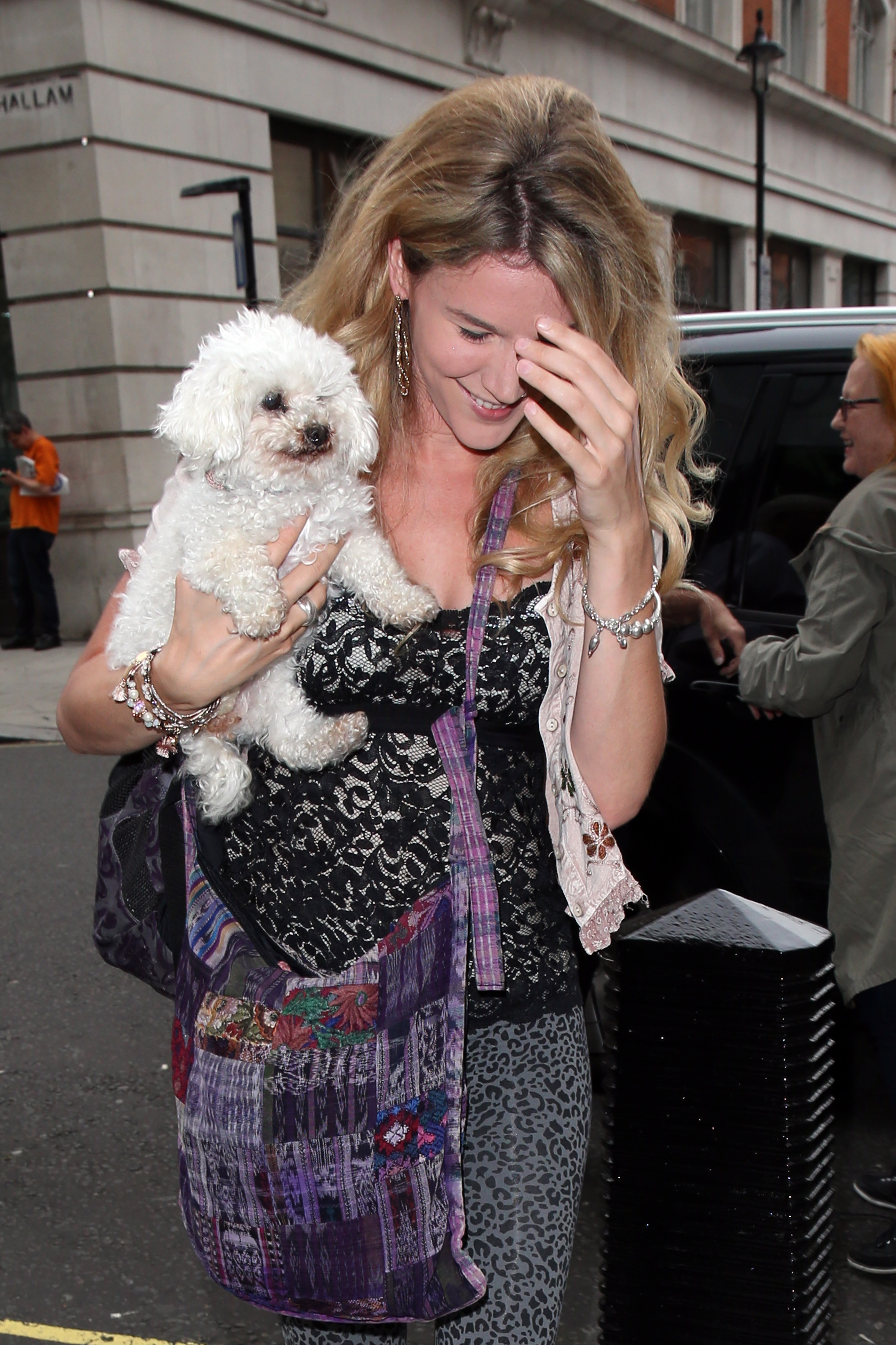 Joss Stone Hiding With Her Pup