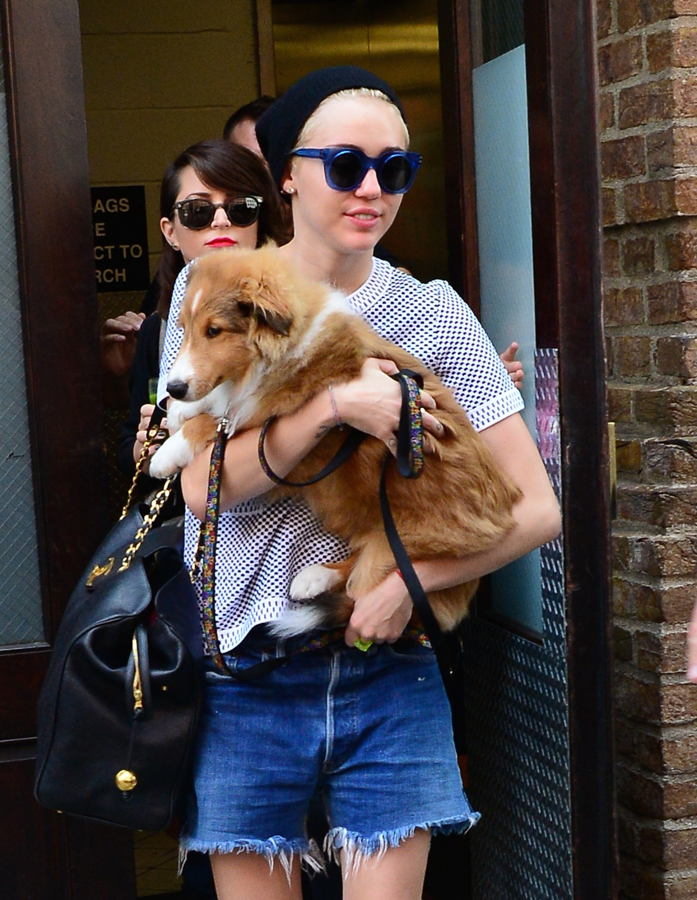 Miley Cyrus And Her Pup, Emu